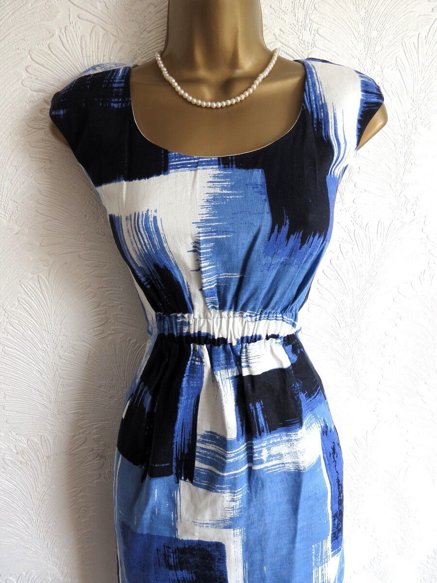 Hobbs London abstract coctail party dress size 8 10