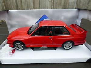 SOLIDO-1-18-Red-Diecast-BMW-M3-E30-1990-M-Power-Turing-Champion-Jouet-Voiture-Modele