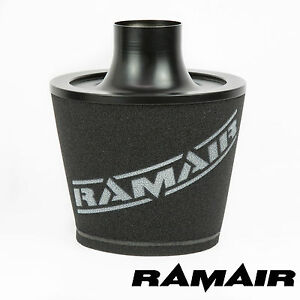 Ramair-Black-Universal-Velocity-Stack-Intake-Cone-Air-Filter-70mm-Od-Neck