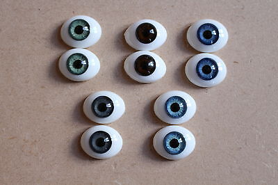 SOLID GLASS EYES 20mm FOR REBORN DOLL KITS /& OOAK BABIES *PHIL DONNELLY BABIES*