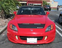 Honda S2000 99 00 01 02 03 04 05 06 07 08 09 Ap1 Ap2 Car Mask Hood Bra + Logo