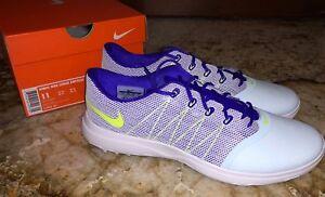 low priced e5965 5b7c2 NIKE Lunar Empress 2 Glacier Blue Purple White Golf Shoes Ladies ...