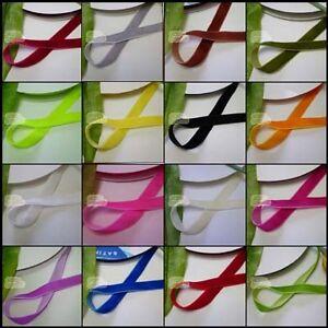20yds-6mm-10mm-12mm-Velvet-Ribbons-Various-Selection