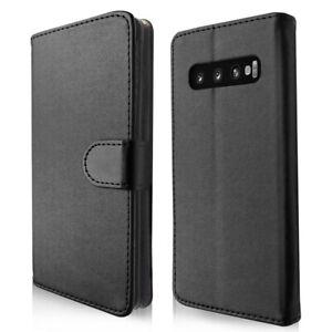 SDTEK-Funda-Flip-Wallet-Cuero-para-Samsung-Galaxy-S10-Plus-Negro