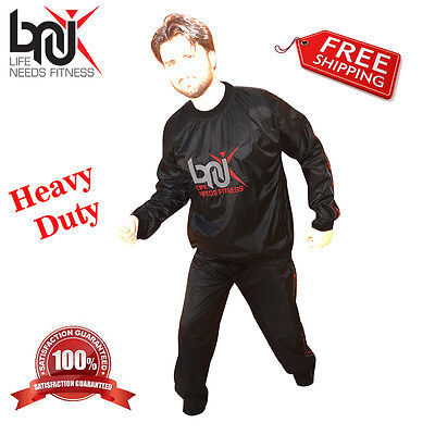 Gelernt Bnu Heavy Duty Sweat Suit Sauna Exercise Gym Suit Fitness Weight Loss Slim