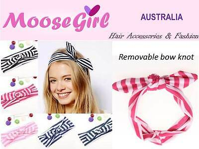 baby hair headbands accessories elastic girl removable light pink bow clip