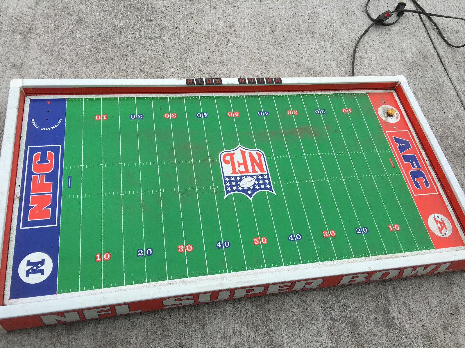 BS7 Vintage Juegos de Tudor NFL Fútbol Electrónico Eléctrico Superbowl Mesa De Metal