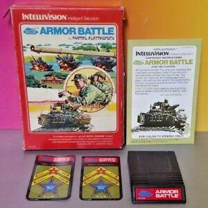 Armor-Battle-Intellivision-Cartridge-Box-Manual-Tested-Complete-Rare