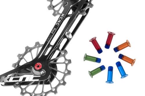 KCNC Road Mountain Cycling Bike Rear Derailleur Pulley Bolts Screws 2pcs Green