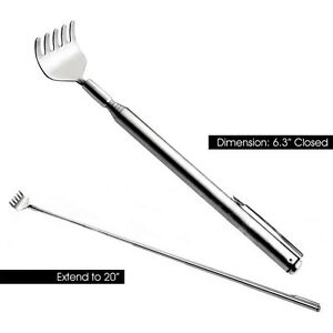 Stainless-Steel-Telescopic-Portable-Pen-Clip-Back-Scratcher-Relieve-Itching-mz