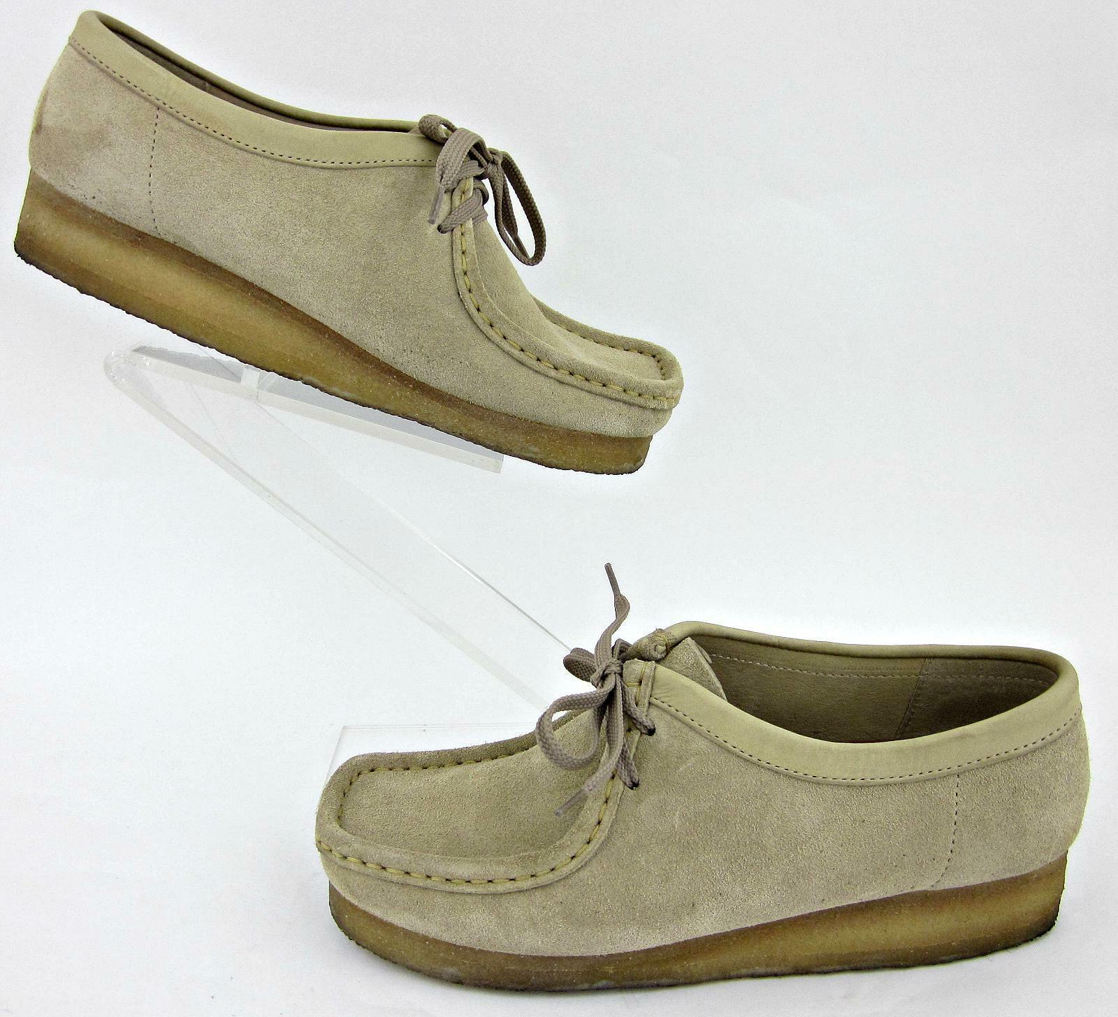 Clarks Originals Damenschuhe Wallabee Schuhes Sand Suede Leder Sz 9M