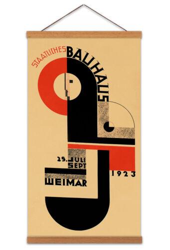 Bauhaus Weimar Expo 1923 Canvas Wall Art Print Poster Magnetic Hanger 24x12 Inch
