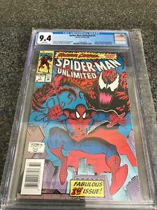 Spider-Man-Unlimited-1-CGC-9-4-NM-1st-App-Shriek-Newsstand-Variant-Rare