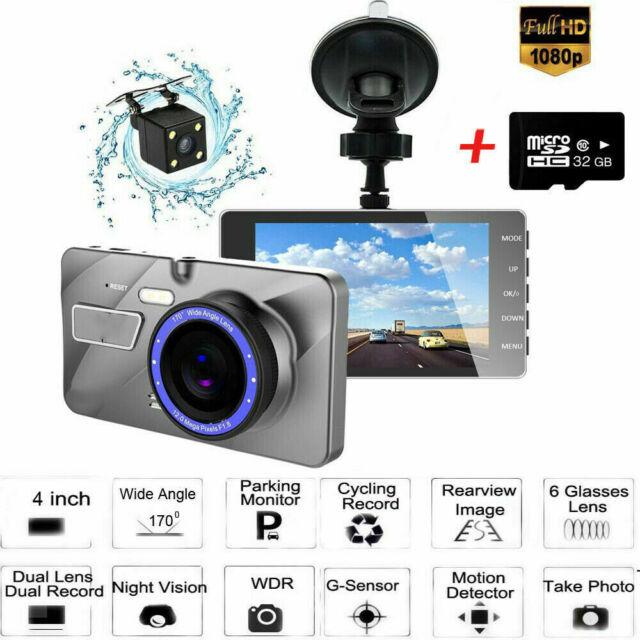 "2.7"" 1080P FHD 170° Night Vision Car DVR Camera Video Recorder Dash Cam+32G Card"