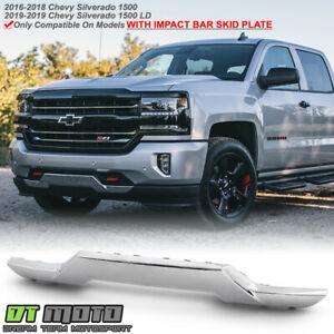 2016 2018 Chevy Silverado 1500 Pickup Chrome Front Bumper Skid Plate Gm1044128 Ebay