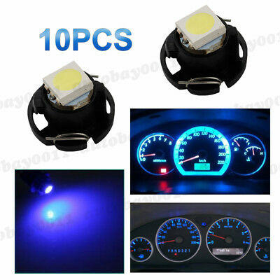 Auspost 4x BLUE T4.7 T5 12mm Led 12V Neo Wedge Twist light Globe Dash Cluster