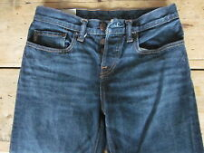 "ABERCROMBIE & FITCH JEANS (28/29x30) 100% COTTON ""CLASSIC STRAIGHT"" BUTTON-FLY -"