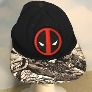 Image is loading DEADPOOL-HAT-BASEBALL-CAP-VINTAGE-MARVEL-COMICS-SNAPBACK- 247bc496ae
