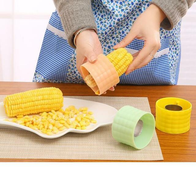 Stainless Steel One-Step Corn Peeler Cutter Stripper Remover Thresher Tool