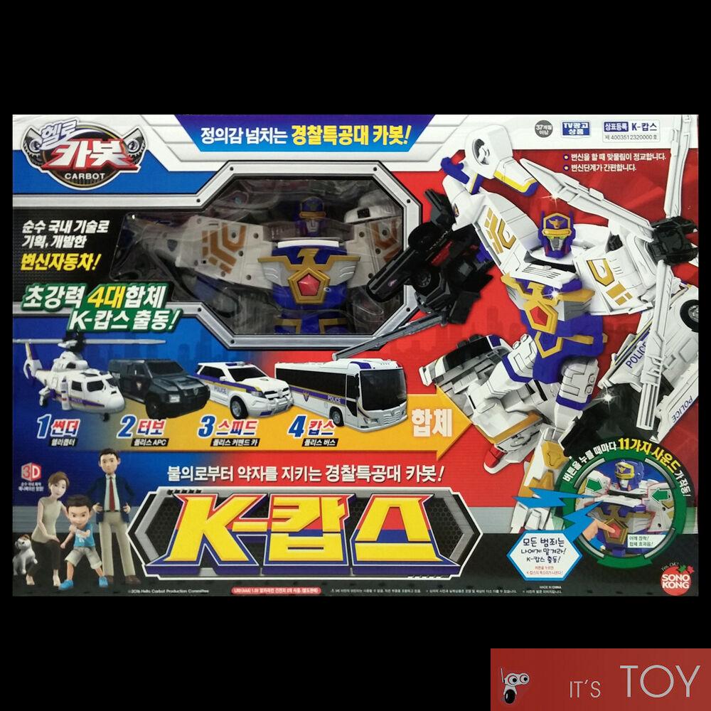 Hello Carbot K-COPS K COPS Transformers Transforming Police Robot Figure Car set