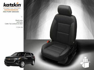 Strange Details About Katzkin Black Leather Int Seat Cvrs Fits 2018 2019 Chevy Traverse L Ls Lt 8 Pass Pdpeps Interior Chair Design Pdpepsorg