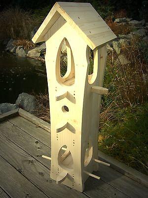 zum selbst bemalen Nistkasten Futterkasten Vogelvilla Typ-B Vogelhaus