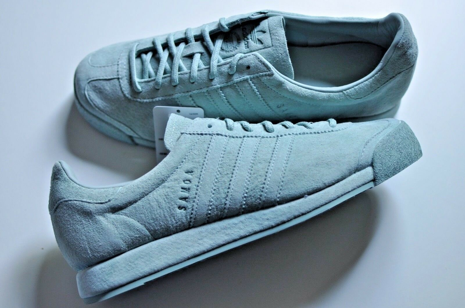 New Adidas Originals Samoa Tactile Vintage leather shoes size 9 Tactile Samoa Green f20117