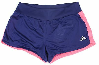 Adidas Women's Grete Running Lined Shorts Night Sky Blue Flared Pink Size XL