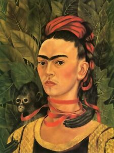 CANVAS or PRINT WALL ART Frida Kahlo Self Portrait