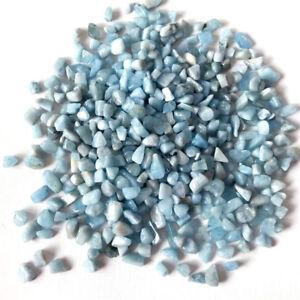7-9mm-Tumbled-Gemstone-Crystal-Quartz-Aquamarine-Rare-Collectable-Rock-Chips-10g