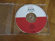 SLAYER God Hates Us All Album Sampler RARE GERMANY collectors acetate CD EP