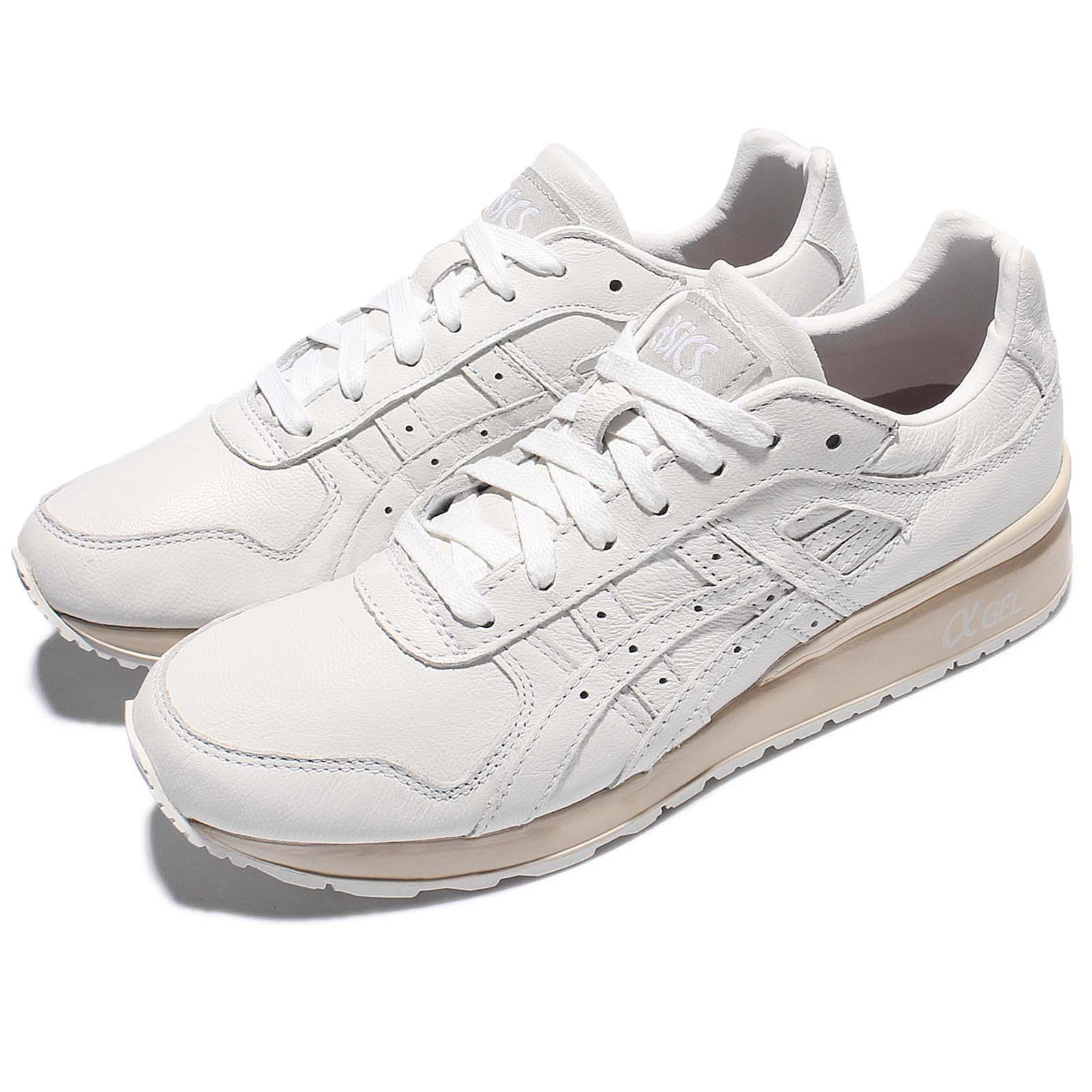 Asics Tiger GT-II 2 bianca Leather Khaki Gel Retro Uomo Shoes Scarpe da Ginnastica H7L2L-0101