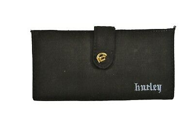 Hurley ELECTRIC White Black Snap Closure Discounted Envelope Junior/'s Wallet