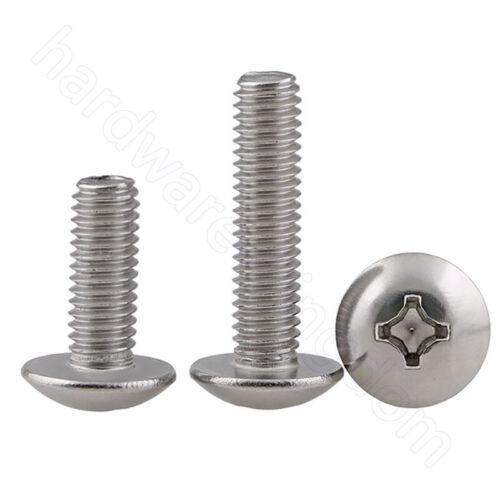Phillips Truss Head Screw A2 Stainless Steel Screws M2 M2.5 M3 M4 M5 M6 M8