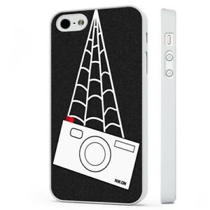 the latest f52ab 997f9 Details about Spiderman Peter Parker Nikon Camera WHITE PHONE CASE COVER  fits iPHONE