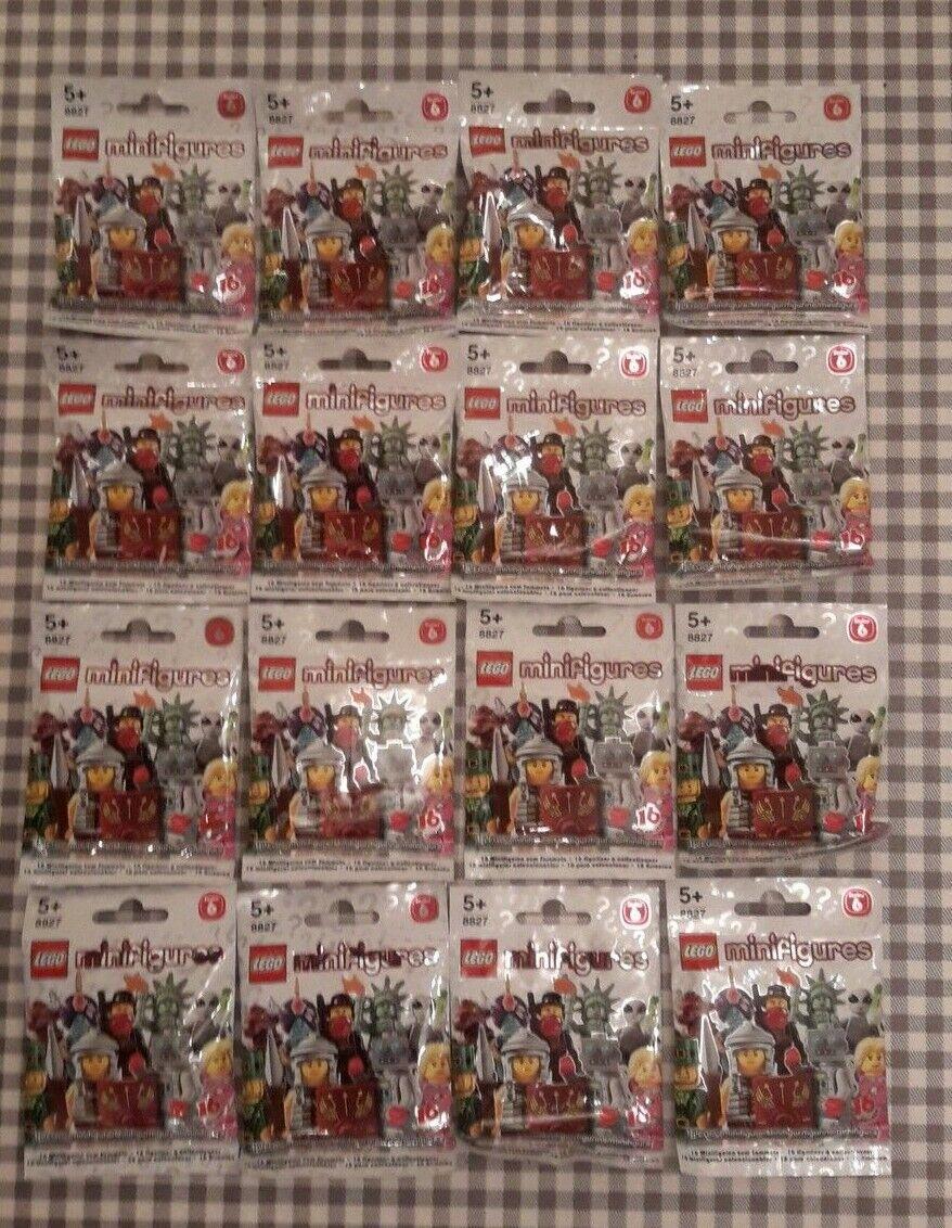 LEGO minifigures serie 6 (8827) set completo di 16 nuovi di fabbrica SIGILLATI