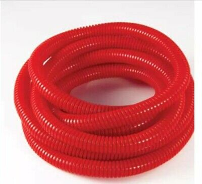 """Wire Loom–UV Rated 3//4/"""" x 50/' Red Flexible Split Corrugated Tubing"""