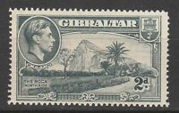 GIBRALTAR 1938 KGVI THE ROCK 2D PERF 14