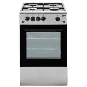 Cucina-a-gas-50x50-Forno-elettrico-Inox-Beko-CSS42014FS