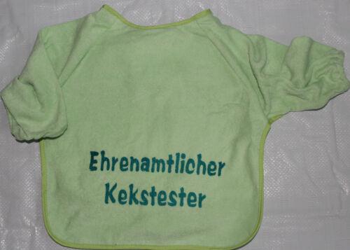 Lätzchen Baby Ärmellätzchen Klettverschluss diverse Farben motiv witzige Sprüche