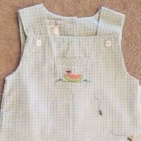 Sweet Baby Petit Ami 9 Month Blue Check Ants Picnic Romper Outfit