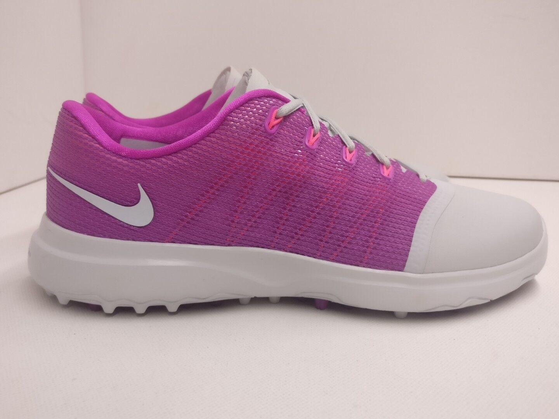 Nike Damenschuhe Lunar Empress 2 Golf Schuhe UK 4 Pure Platinum WEISS Purple 819040002