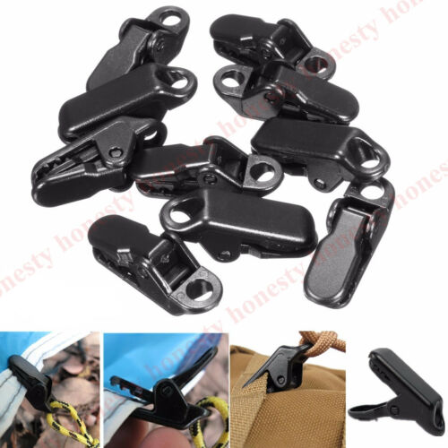 2~20x Camping Awning Canopy Clamp Tarp Clip Car Boat Emergency Tent Tighten Snap