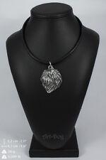 Polish Lowland Sheepdog silver covered necklace, high quality keychain Art Dog