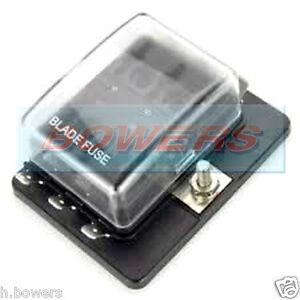 12V / 24V 6 WAY LED LIGHT BLADE FUSE BOX HOLDER 1 SINGLE POWER INPUT IN BUS BAR