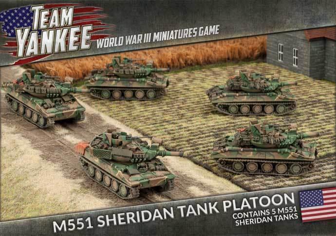 Team yankee - amerikanischen  m551 sheridan tank platoon tubx17