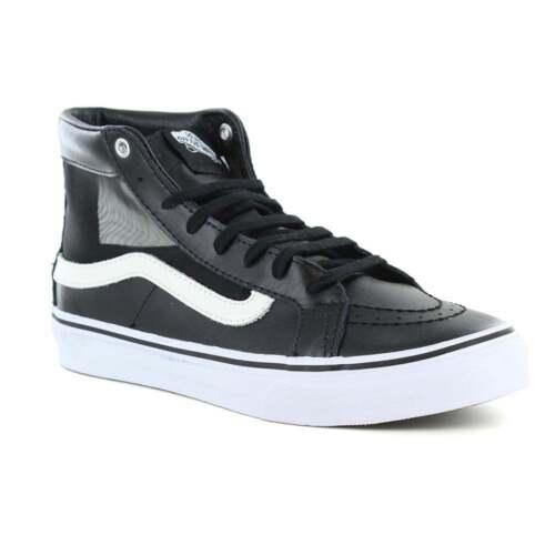 en blanco para Cutout cuero Sk8 Vans hi negro de y skate Vn0004kzisj de Slim zapatos mujer 47nvOfqn