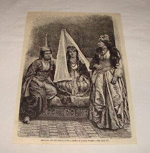 1884-magazine-engraving-GROUP-OF-DRUSE-WOMEN-Lebanon