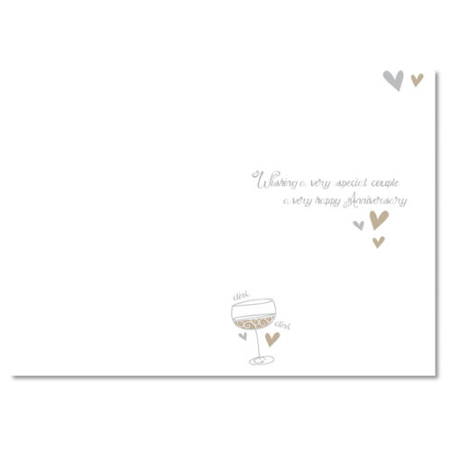 On Your Anniversary With Love Open Lovely Glass Tower Design Card Classic