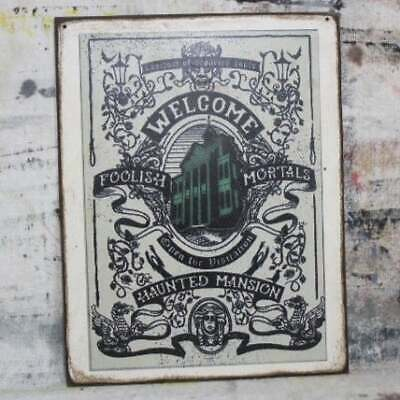 "Details about  /11/"" DISNEYLAND PHANTOM MANOR Haunted sign pop ART Wood Vtg style Sign"